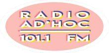 "<span lang =""fr"">Radio Ad'hoc 101.1 FM</span>"